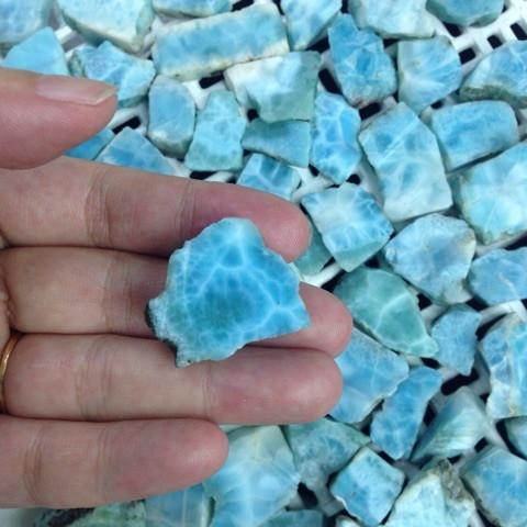 ラリマーの原石を磨いてみた!3