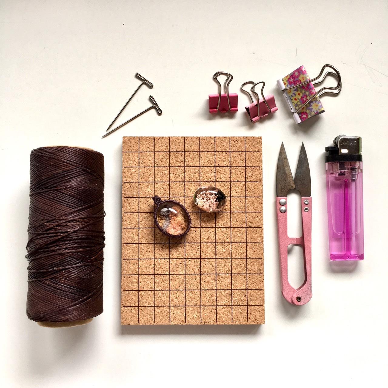 マクラメペンダントの編み方