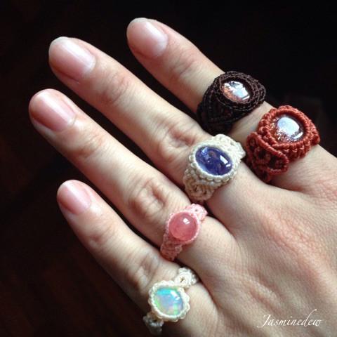 マクラメの指輪1