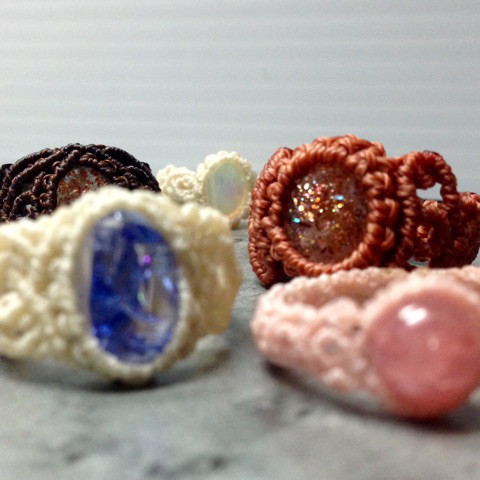 マクラメの指輪2