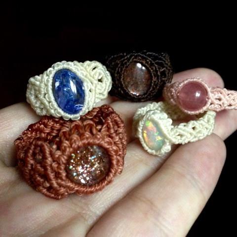 マクラメの指輪3