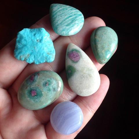 ティファニー色天然石セット3