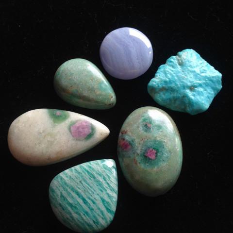 ティファニー色天然石セット4