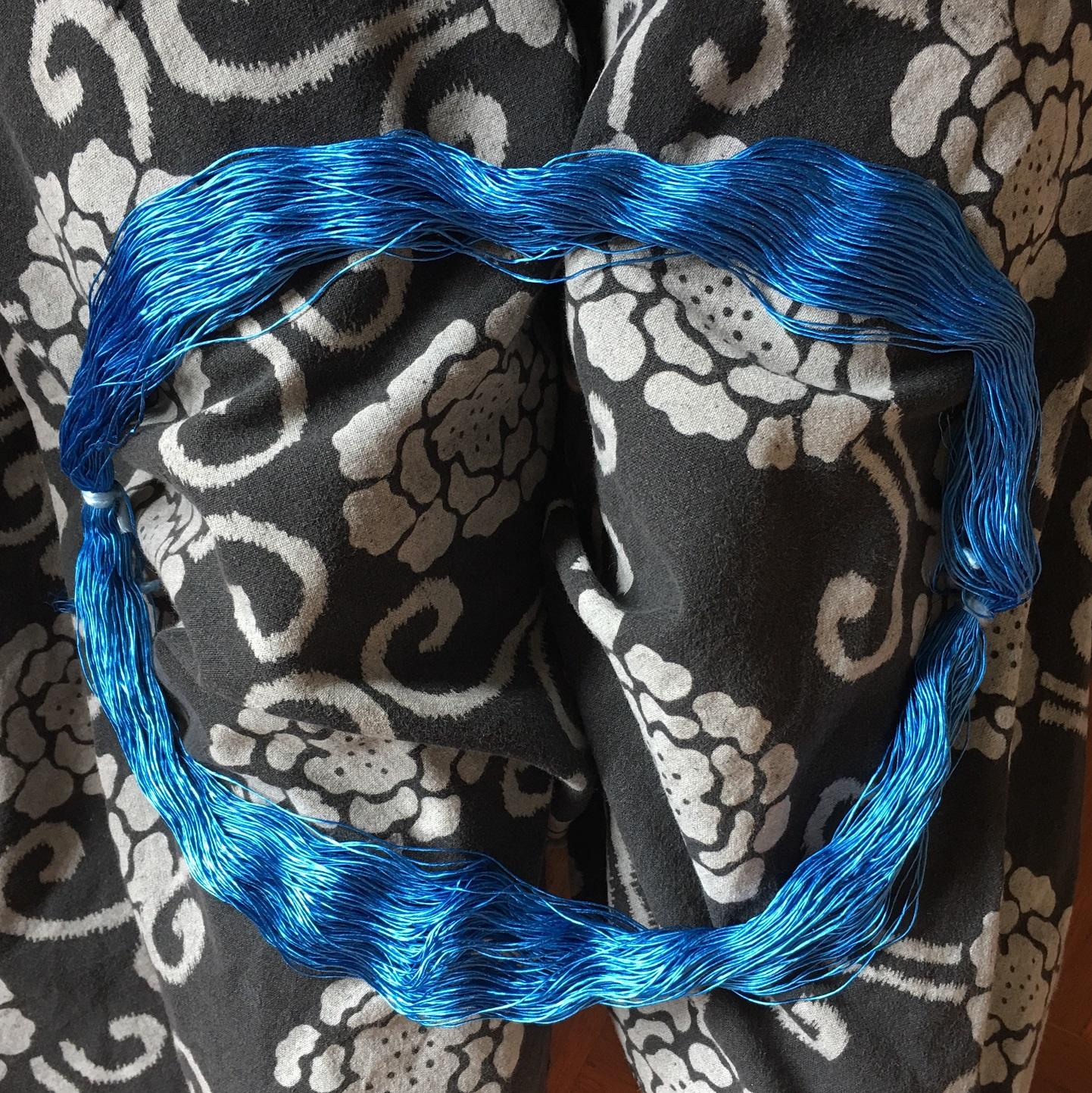 カセ状の絹糸の扱い方